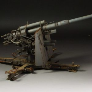 German 88mm Flak Gun 36/37 with Trailers (Grey)