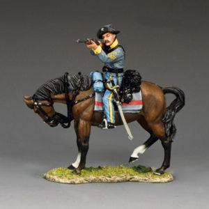 CW109 Confederate Cavalry Sergeant Firing Carbine