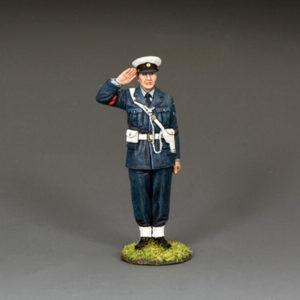 RAF087 Saluting RAF Policeman