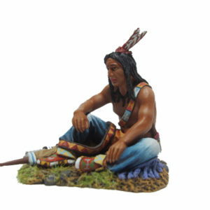 IDA6021 SIOUX WARRIOR SITTING TALKING #2