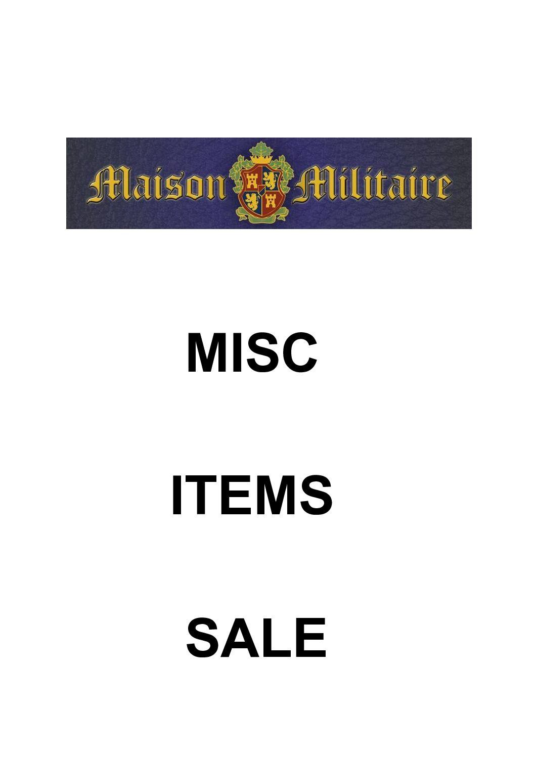 Misc items in Sale