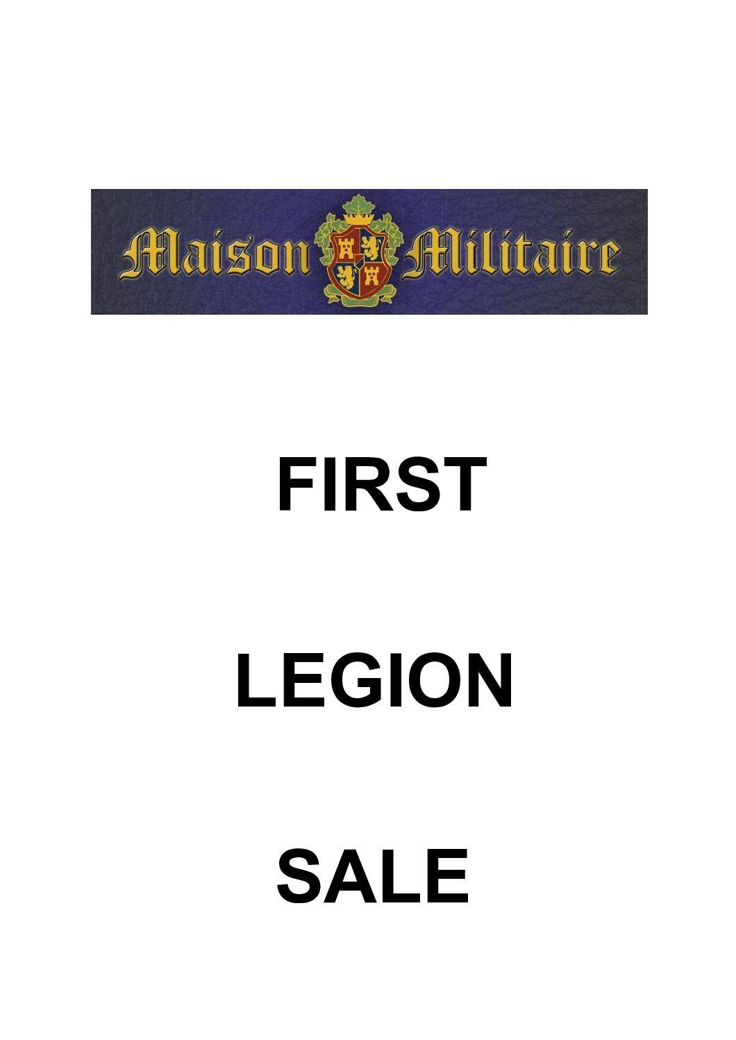 First Legion Sale.