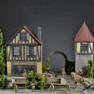 TOS161 Alsace medieval city - diorama