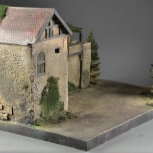 TOS173 #1 City wall and tower - Diorama