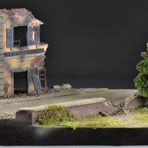 TOS178 Cafe De Normandie Ruin - Diorama