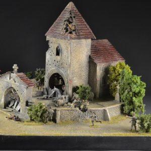TOS180 Saint Privat Church & Cemetery - Diorama