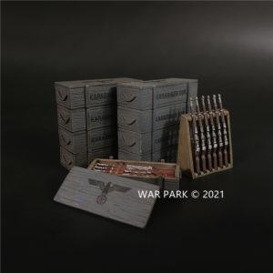 WS028 Grey Karabiner 98k Rifles and Crates set